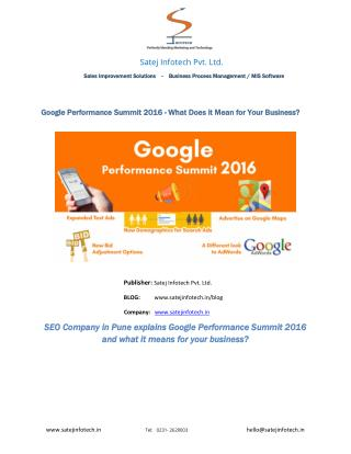 Google Performance summit 2016- What does it mean for your business?