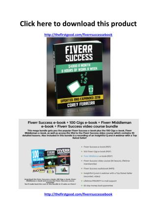 Fiverr Success Ebook Review - Scam or Legit - PDF eBook Download