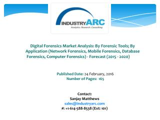 Digital Forensics Market: high demand for data recovery and forensic analysis for corporate or governmental purposes thr