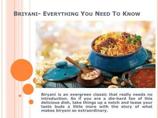 Briyani- Everything You Need To Know
