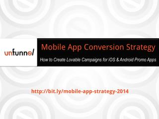 2014 iOS Mobile App Promotion Strategy Template