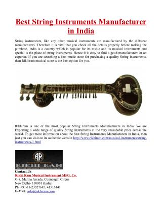 Best String Instruments Manufacturer in India