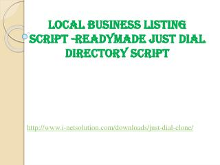 Local Business Listing  - Readymade justdial  Directory script