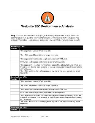 Website SEO Performance Template