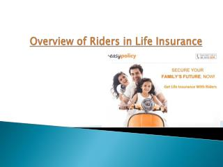 Overview of Riders in Life Insurance