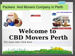 Choosing The Best Removal Companies Perth - CBD Movers Perth