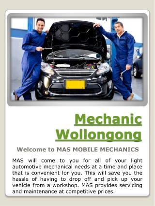 Mobile Mechanic Wollongong