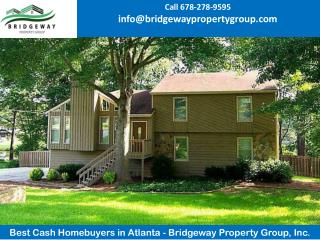 Best Cash Homebuyers in Atlanta - Bridgeway Property Group, Inc.