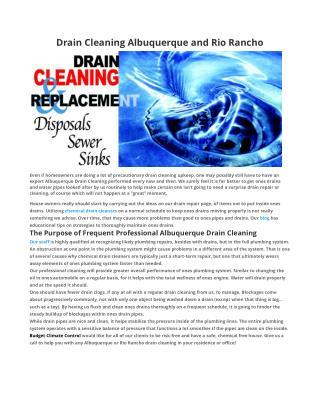 Drain Cleaning Albuquerque
