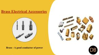 Threads, Materials & Features of Brass Electrical Accessories