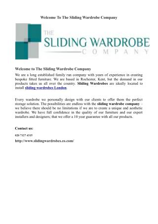 Welcome To The Sliding Wardrobe Company