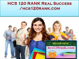HCS 120 RANK Real Success   /hcs120rank.com