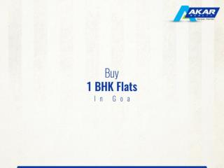 Buy 1 BHK Flats in Goa.