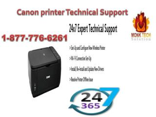 Excellent Service via Canon printer Technical Support at 1-877-776-6261