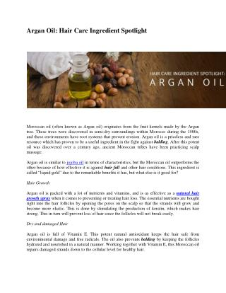 Hair Care Benefits via Argan Oil