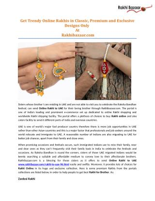 Get Trendy Online Rakhis in Classic, Premium and Exclusive Designs Only at Rakhibazaar.com