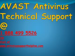 Avast antivirus customer service phone number   18884995526