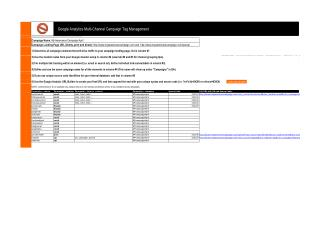 Google Analytics Campaign Tag Management Template