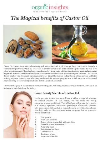 The Magical benefits of Castor Oil