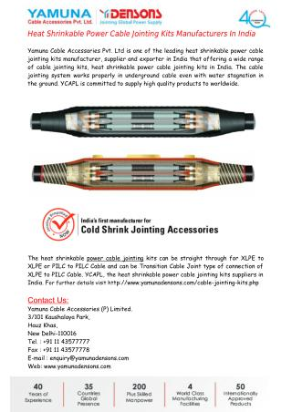 Heat Shrinkable Power Cable Jointing Kits Manufacturers In India
