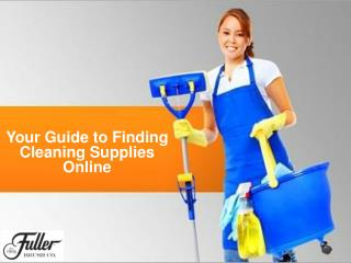 Your Guide to Finding Cleaning Supplies Online