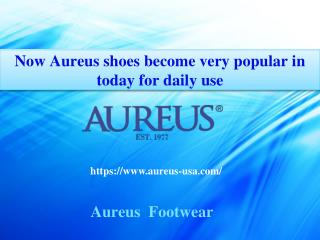 Now Aureus shoes become very popular in today for daily use