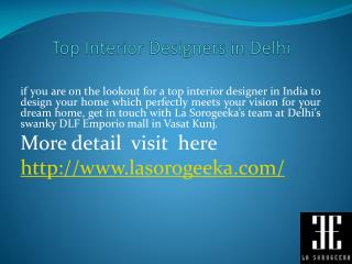 Best Interior Decorators in India