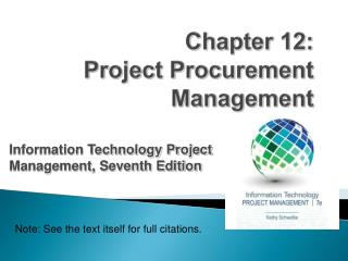 Chapter  12: Project Procurement Management