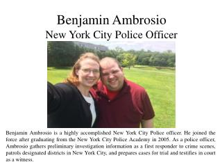 Benjamin Ambrosio - New York City Police Officer
