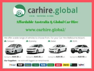 Car Hire at Canberra
