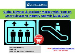 Elevators and Escalators Market Analysis 2016-2020