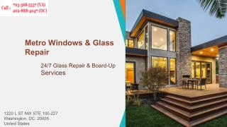 Repair Frame Less Glass Window | Call us (202) 888-4047