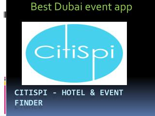 Best Dubai event Search app