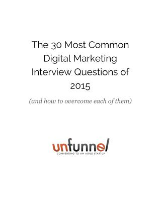 30 Most Common Digital Marketing Interview Questions