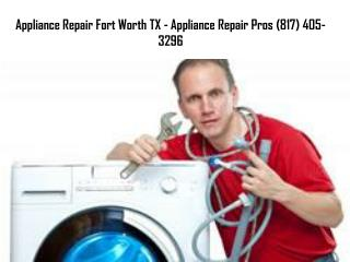 Appliance Repair Fort Worth TX