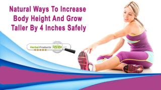 Natural Ways To Increase Body Height And Grow Taller By 4 Inches Safely
