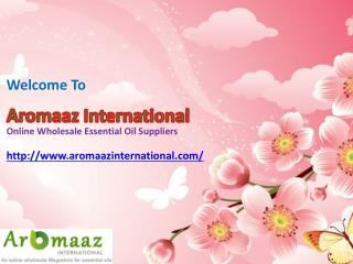 Buy Best Natural Flower Oil at Aromaazinternational.com
