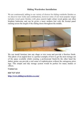 Sliding Wardrobes Installation