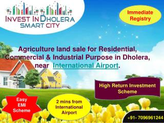 Agriculture land for sale in Dholera
