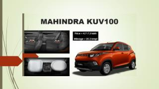 Mahindra KUV100 Price in India, Review, Pics, Specs & Mileage