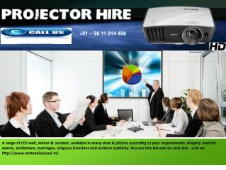 Projectors On Hire in Delhi NCR
