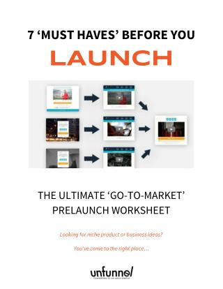 2016 Go-To-Market Campaign Prelaunch Worksheet