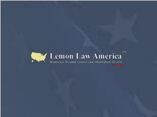 California Lemon Law - Lemon Law America