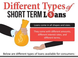 Different Types of Short Term Loans - Short Term Loans