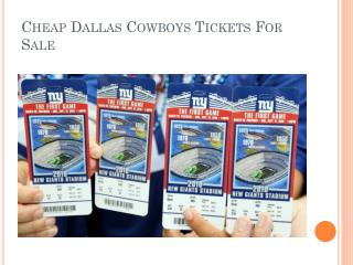Cheap Dallas Cowboys Tickets For Sale