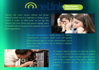Call Center Customer Service By One Link