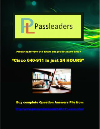 Passleader 640-911 Questions Answers