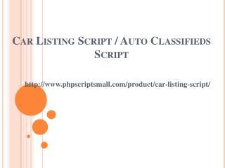 Car Listing Script, Auto Classifieds Script