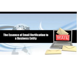 The Essence of Email Verification to a Business Entity