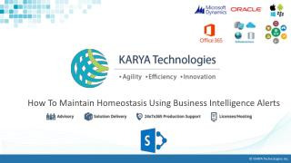 How To Maintain Homeostasis Using Business Intelligence Alerts